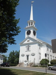 Seeking a solution for failing wood siding on the  First Congregational Church of Shrewsbury, United Home Exteriors chose Everlast Advanced Composite Siding.