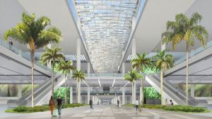 Orlando International Airport's Boulevard will guide passengers throughout the terminal while connecting ground transportation, check-in, retail and security screening. RENDERING: COURTESY OF FENTRESS ARCHITECTS