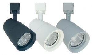 The MAC LED Track Series fixtures are dimmable and can be installed on one- or two-circuit tracks.