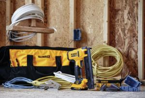 The 20V MAX Cordless Cable Stapler is designed for fastening NM-B (Romex) wires and cables.