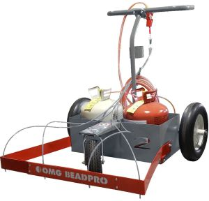 The OMG BeadPro Cart optimizes the process of applying insulation adhesives from pressurized canisters.