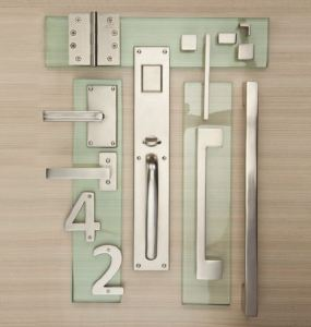 The Urban Suite of architectural hardware makes a contemporary design statement.