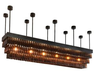 It takes more than 300 glass beer bottles to create the Beer Gardent Chandelier.