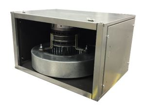 The M1218 air-handler unit consists of various modules that can be latched together.