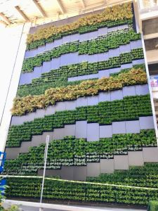 The Versa Wall XT system is an exterior living wall alternative to pre-grown panels.