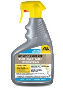 INSTANT REMOVER can be used for both removing grout haze on the front and for cleaning the back of tile prior to installation.
