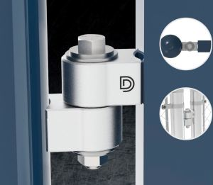 The VersaWeld gate hinge welds to flat or round surfaces or a combination of both without the need of any adapters.