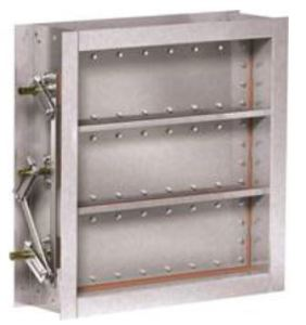 The rectangular industrial isolation control damper from Greenheck features a square-blade design.