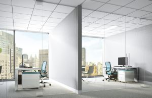 Calla PrivAssure ceiling panels feature a Ceiling Attenuation Class of 45-to-50.