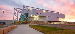 HyVee Arena adaptively reused the Kemper Arena's single-level venue transforming it into a four-level, 10,000-seat recreational facility in Kansas City.