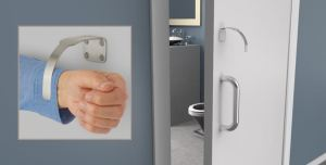 Rockwood Arm and Foot Pulls are an option for hands-free door operation in new or pre-existing openings.