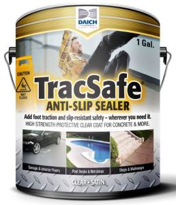 TracSafe Anti-Slip Sealer is a clear coat that strengthens and protects surfaces while also helping to protect hotel guests and employees who walk on it from slips and falls.