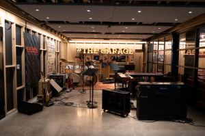 The Garage exhibit allows visitors to pick up an instrument, crank up the volume and make their own music.