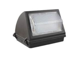 Traditional LED Wall Packs from EarthTronics features three color-selectable operations in a range of wattages.