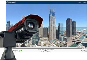 The GigapixelCam X2 robotic camera provides a solution for jobsite monitoring, live streaming visualization and continuous security recording.