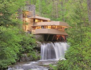 Starphire Ultra-Clear glass is used to replace multiple windows at Frank Lloyd Wright's Fallingwater in Mill Run, Penn.
