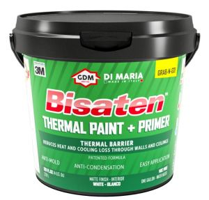 Bisaten Thermo Paint & Primer is non-toxic, free of volatile organic compounds and packaged in recyclable containers.