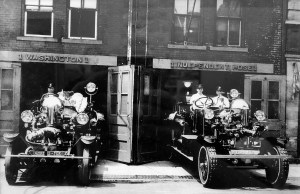 Built in 1870, volunteers continue to restore the Market Street Firehouse and the first motorized fire truck, which sits at the location.