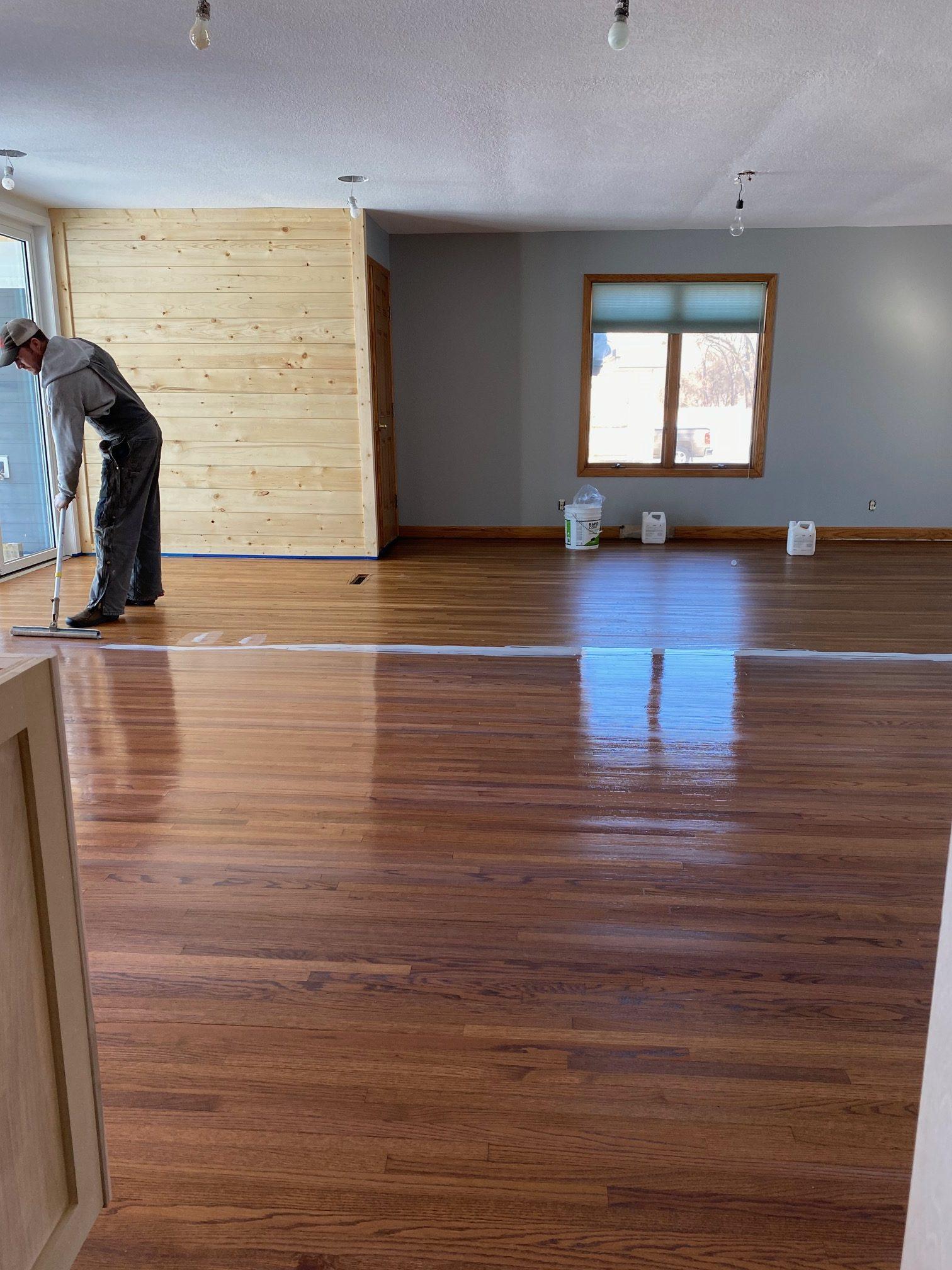 applying hardwood floor sealer