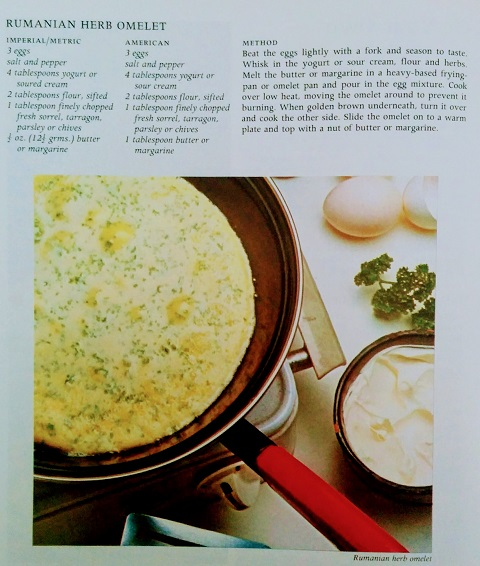 Rumanian Herb Omelette Recipe2
