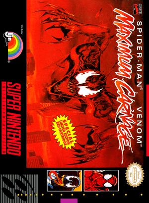 SNES  SpiderMan Venom Maximum Carnage Custom Game Case