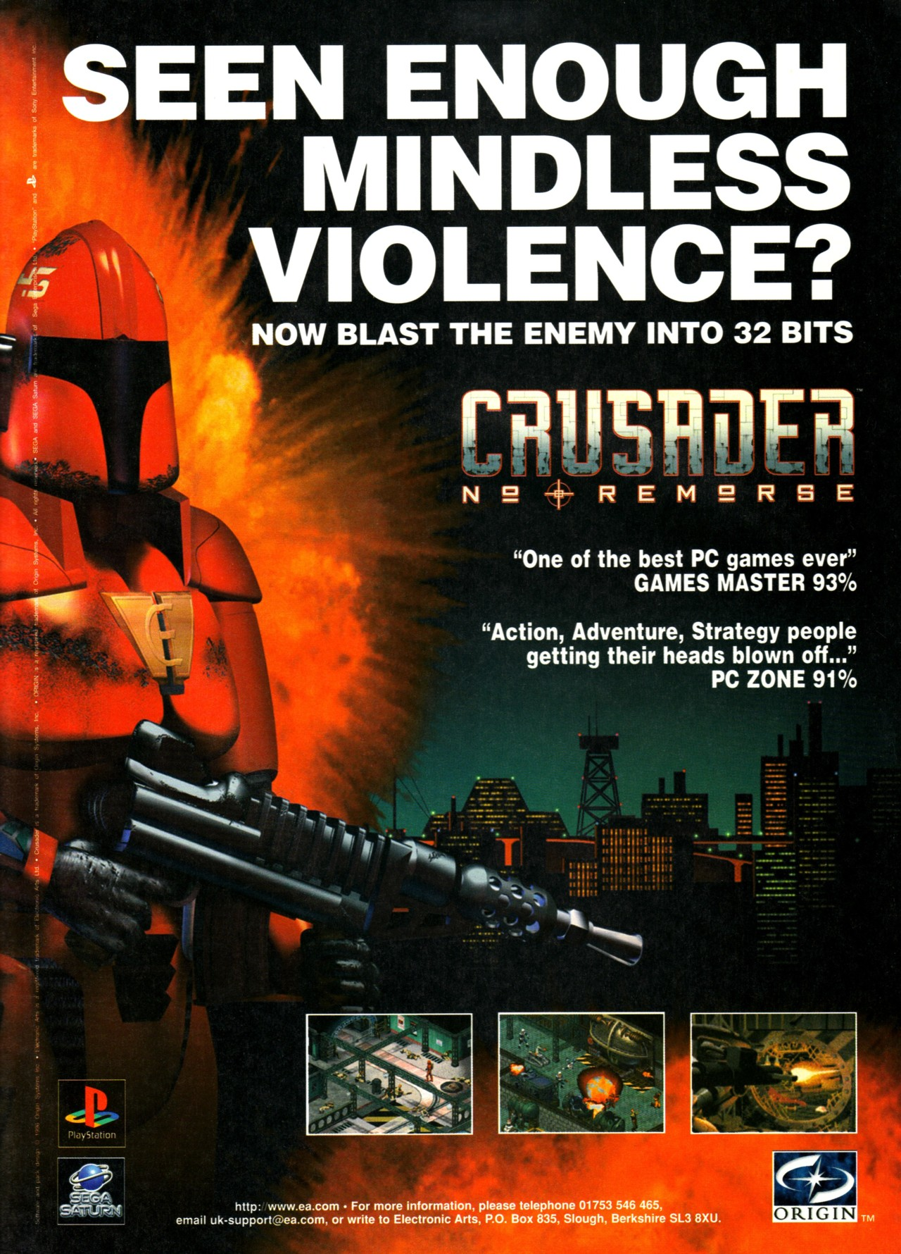 Video Game Ad Of The Day Crusader No Remorse