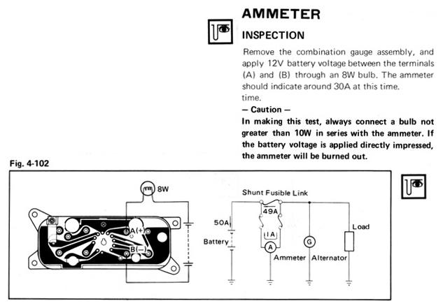 ammeter wiring help  1stgencelica