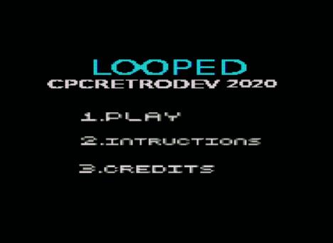 Looped, menú de inicio