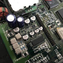 Amiga 1200 Mainboard recapped