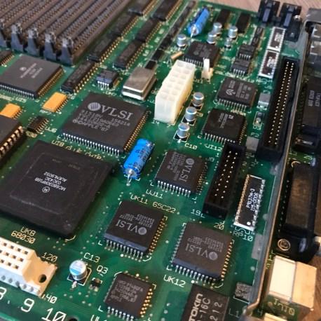 Macintosh SE/30 Logic Board Recapped