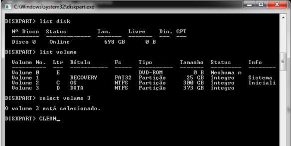 diskpart-07 Como Remover partições em pendrives