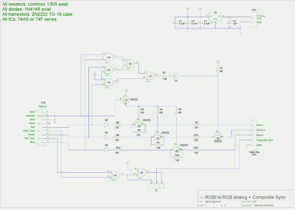 esquema-rgbi2rgba Como Converter Sinal da placa CGA do PC-XT usando a placa GBS 8200