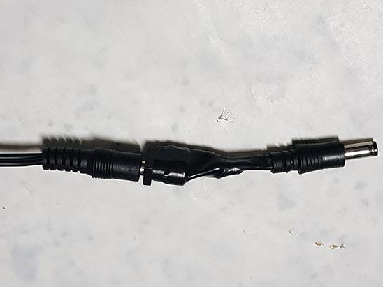 adaptador-plugue Fonte Externa no MSX Expert Gradiente