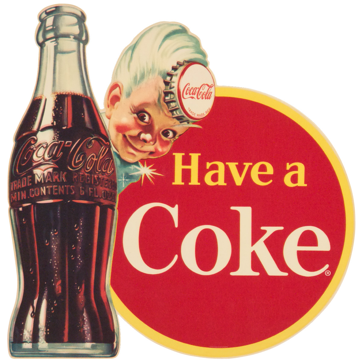 CocaCola Have a Coke Disc Sprite Boy Wall Decal at Retro