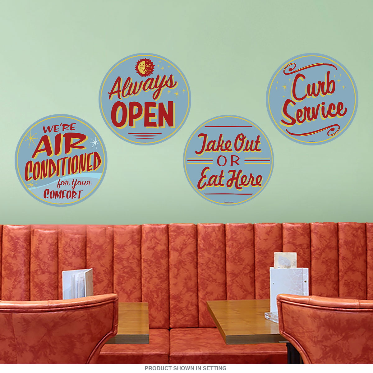 Diner Advertisement Wall Decal Set At Retro Planet