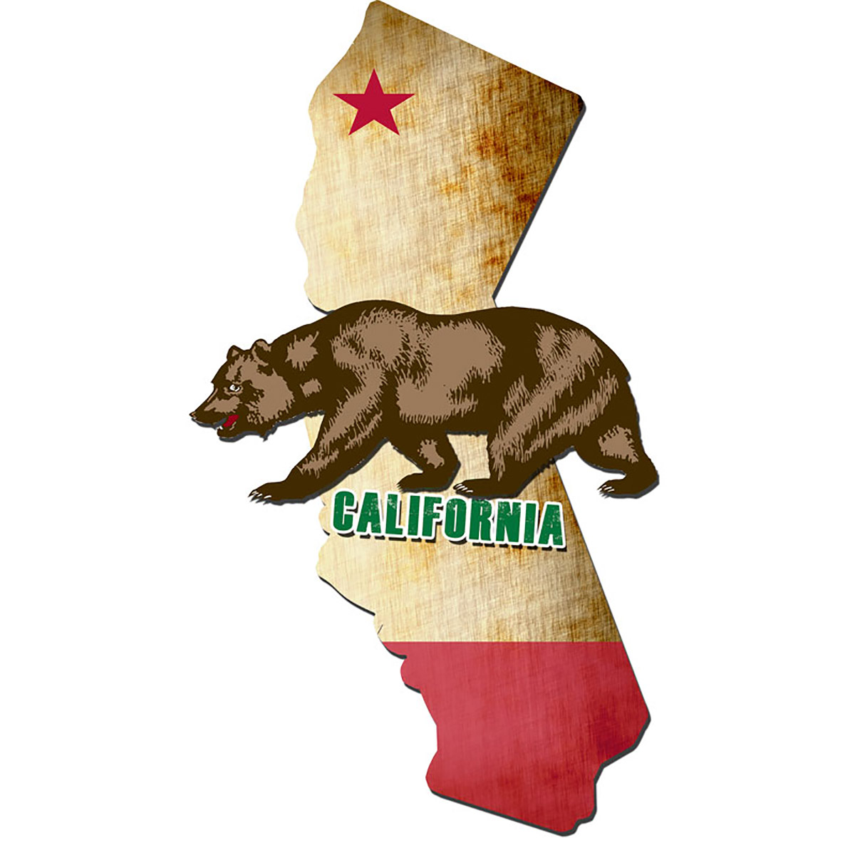 California State Flag Sign Large 3d Layered At Retro Planet