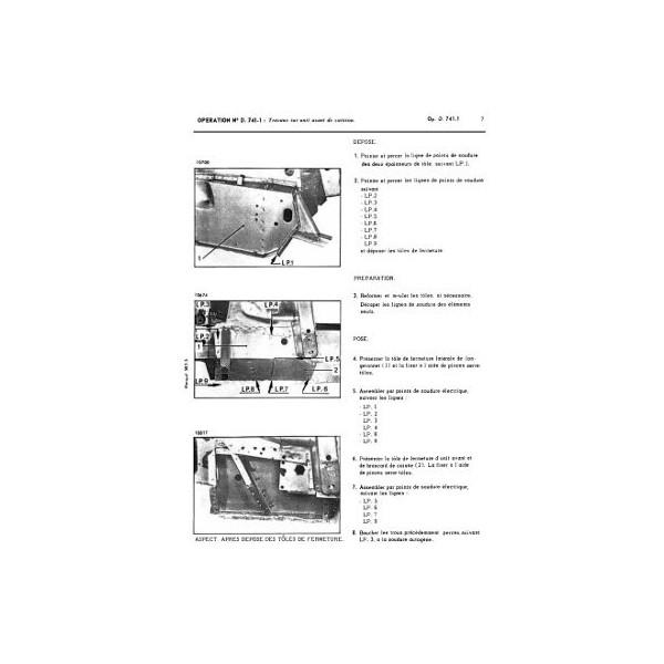 Citroën DS et ID tous types, manuel de réparation carrosserie