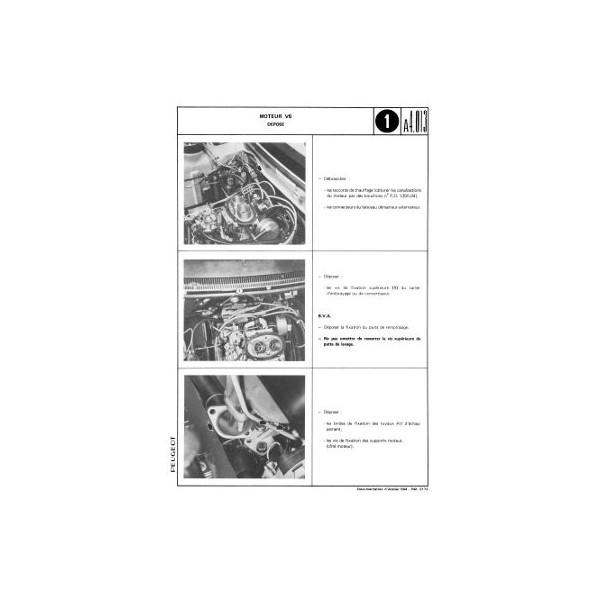 Manuel de réparation Peugeot 604 SL, 604 TI