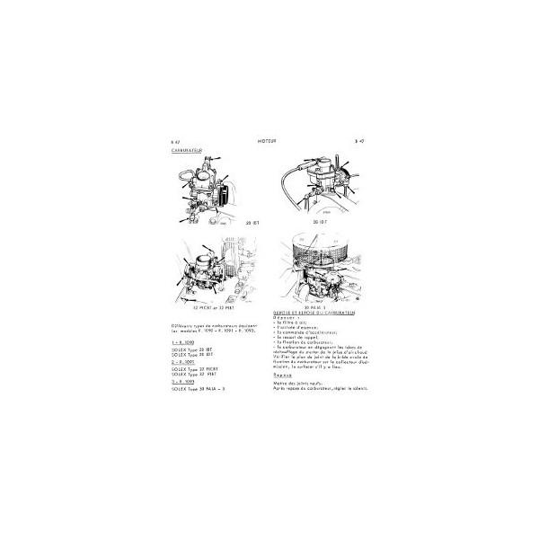 Renault Dauphine, Gordini et 1093, manuel de réparation