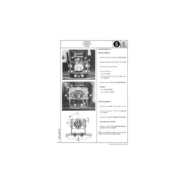 Manuel de réparation Peugeot 505 GR, SR carburateur, TI