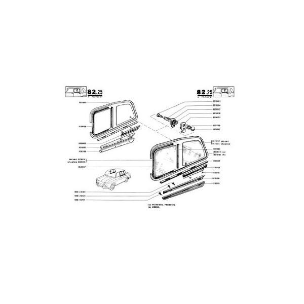 Renault 8 R1130 et R1132, catalogue de pièces