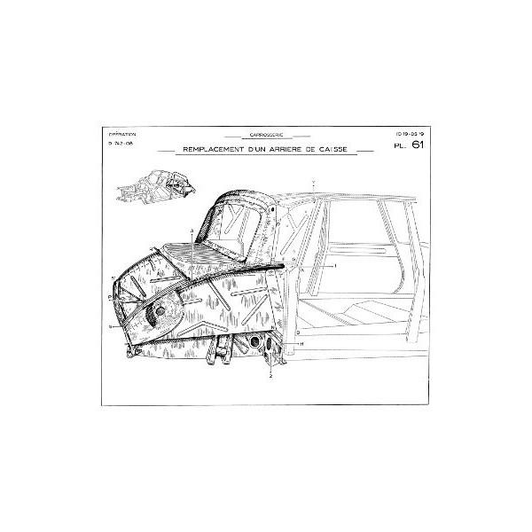 Citroën DS19, ID19, manuel de réparation carrosserie