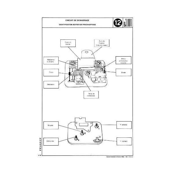 Manuel de réparation électricité Peugeot 504 essence, Diesel