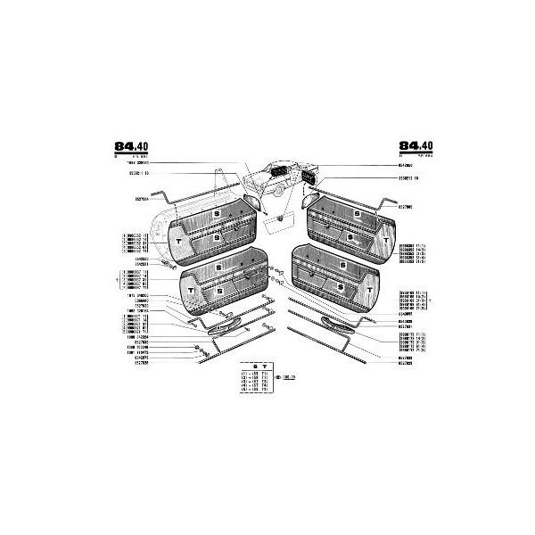 Renault Floride, Caravelle R1092, catalogue de pièces