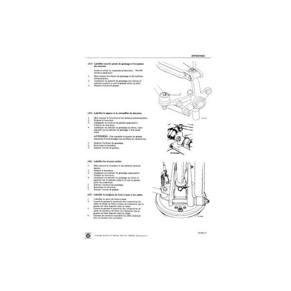 Triumph Spitfire mk4, mkIV, manuel de réparation