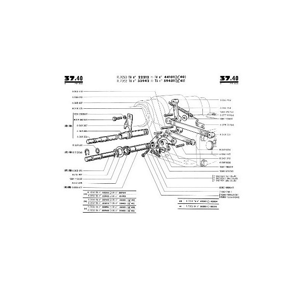 Catalogue de pièces Renault D35, N70, E70, P70, Super 6