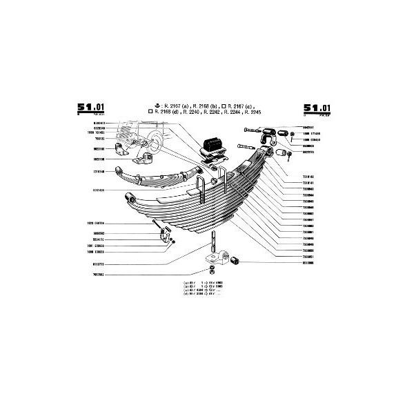 Renault Galion moteur essence, catalogue de pièces