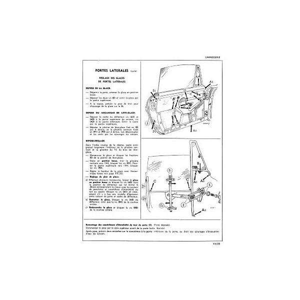 Renault Caravelle et Floride R1092, manuel de réparation