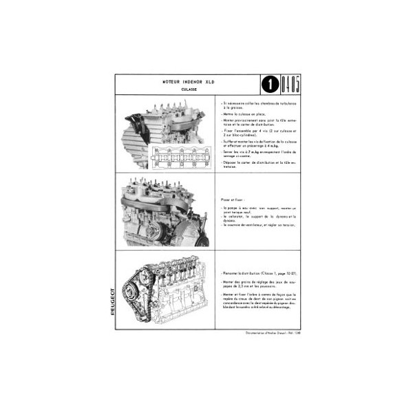 Manuel de réparation moteur Diesel Indénor XLD pour