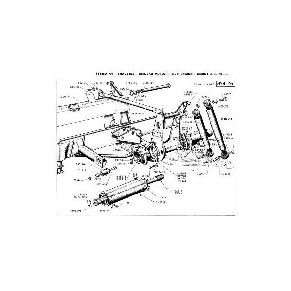 Catalogue de pièces Citroën type H de 850 et 1500kg à